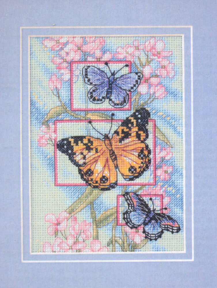 Набор для вышивания крестом Dimensions Blossoms and Butterflies, 13 см х 18 см набор для вышивания крестом пейзаж в овале 13 х 15 см с 091