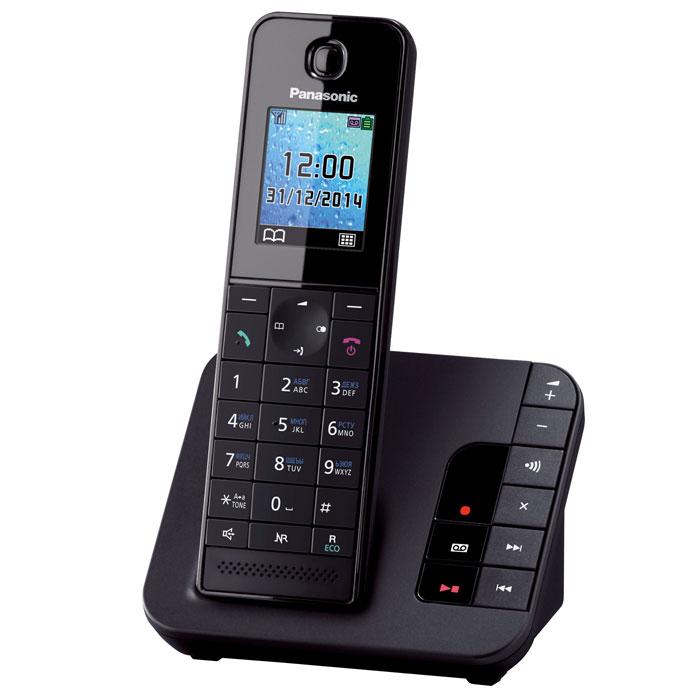 Радиотелефон с автоответчиком Panasonic KX-TGH220RUB, черный