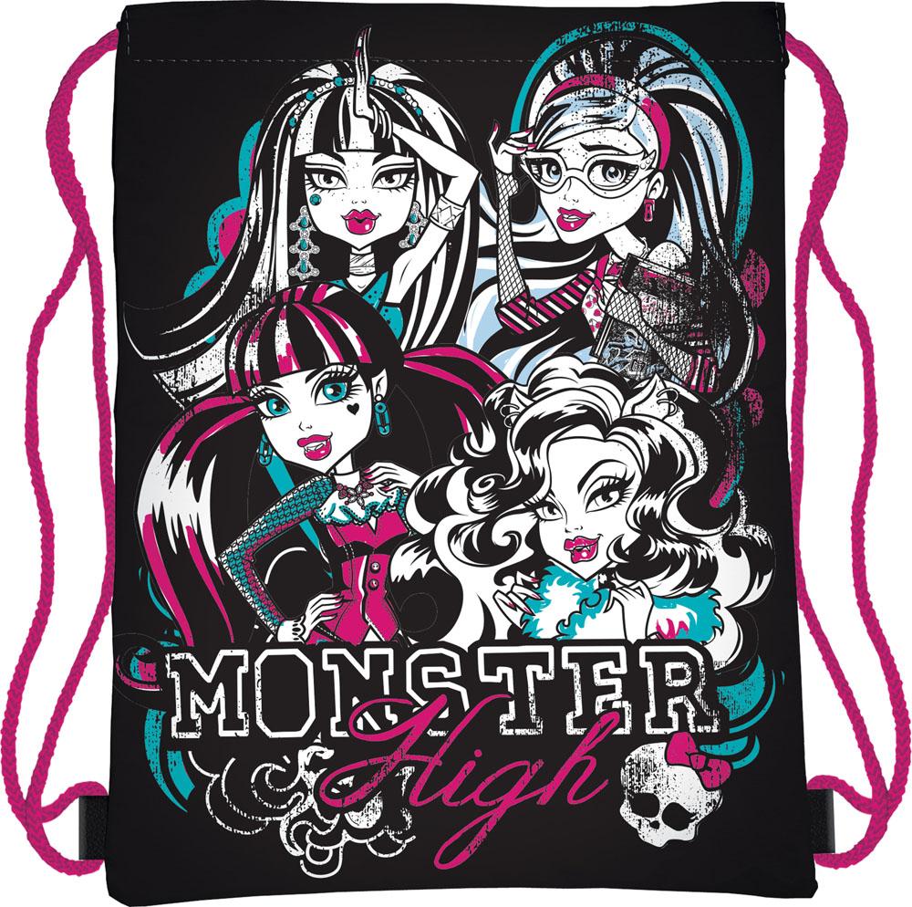 Сумка для сменной обуви Monster High, цвет: черный, розовый