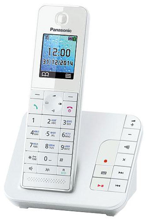 Радиотелефон с автоответчиком Panasonic KX-TGH220 RUW, белый