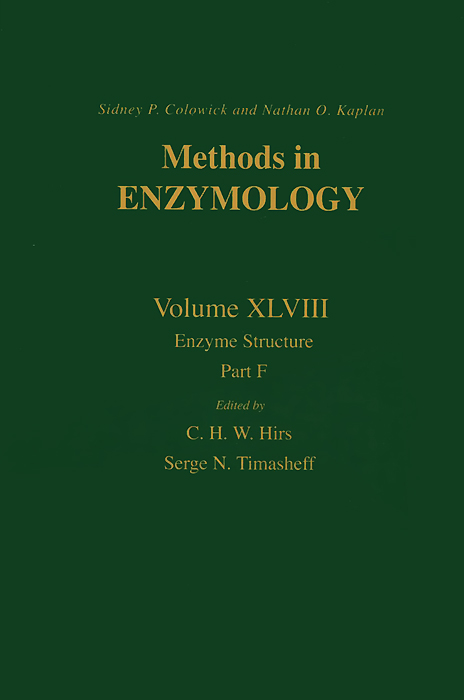 Methods in Enzymology: Volume 48: Enzyme Structure: Part F methods in enzymology volume 49 enzyme structure part g