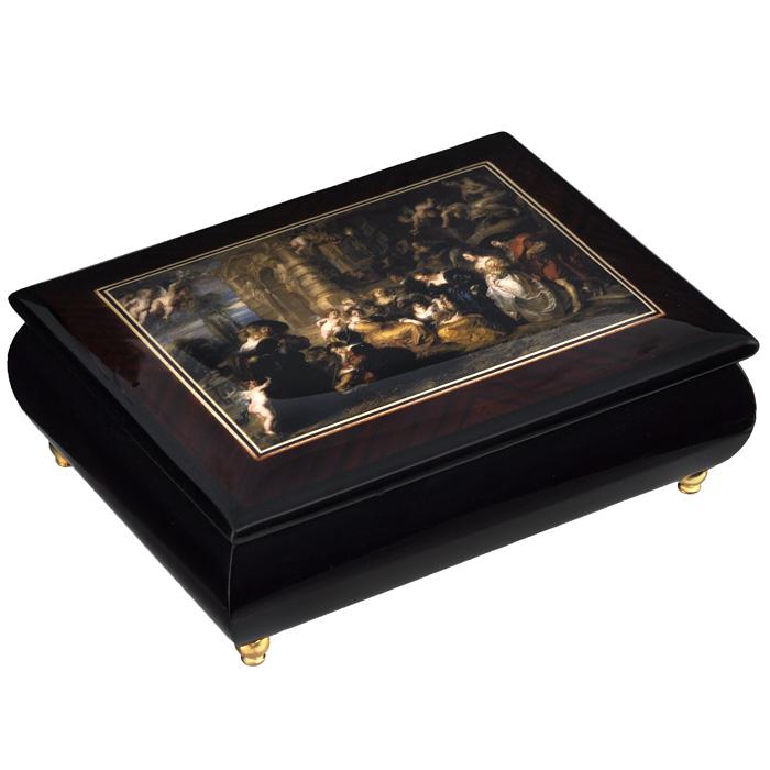 """Шкатулка для ювелирных украшений """"Mercante"""", цвет: темно-коричневый, 17 х 13 х 6 см 36154"""