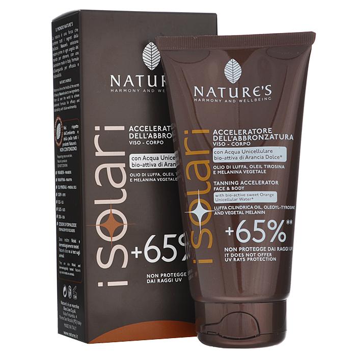 Natures Крем усилитель загара +65% iSolari, 150 мл60041633Крем усилитель загара +65% Natures iSolari рекомендован для тех, кто хочет быстро получить красивый яркий бронзовый оттенок кожи, в том числе в солярии. Крем усиливает естественный процесс пигментации кожи более чем на 65%. Не содержит фактор защиты кожи. Поэтому может использоваться как самостоятельное средство для хорошо загорелой или смуглой, невосприимчивой к солнцу кожи, или как основа под солнцезащитный крем с подходящим уровнем защиты. С помощью этого крема можно подготовить светлую кожу к загару, начав применение за одну неделю до выхода на солнце. Активные компоненты: бурая водоросль, растительный меланин, масло Ши, абрикосовое молочко, сок дыни, масло кофе, миндальное масло, рисовое масло. Характеристики: Объем: 150 мл. Товар сертифицирован.