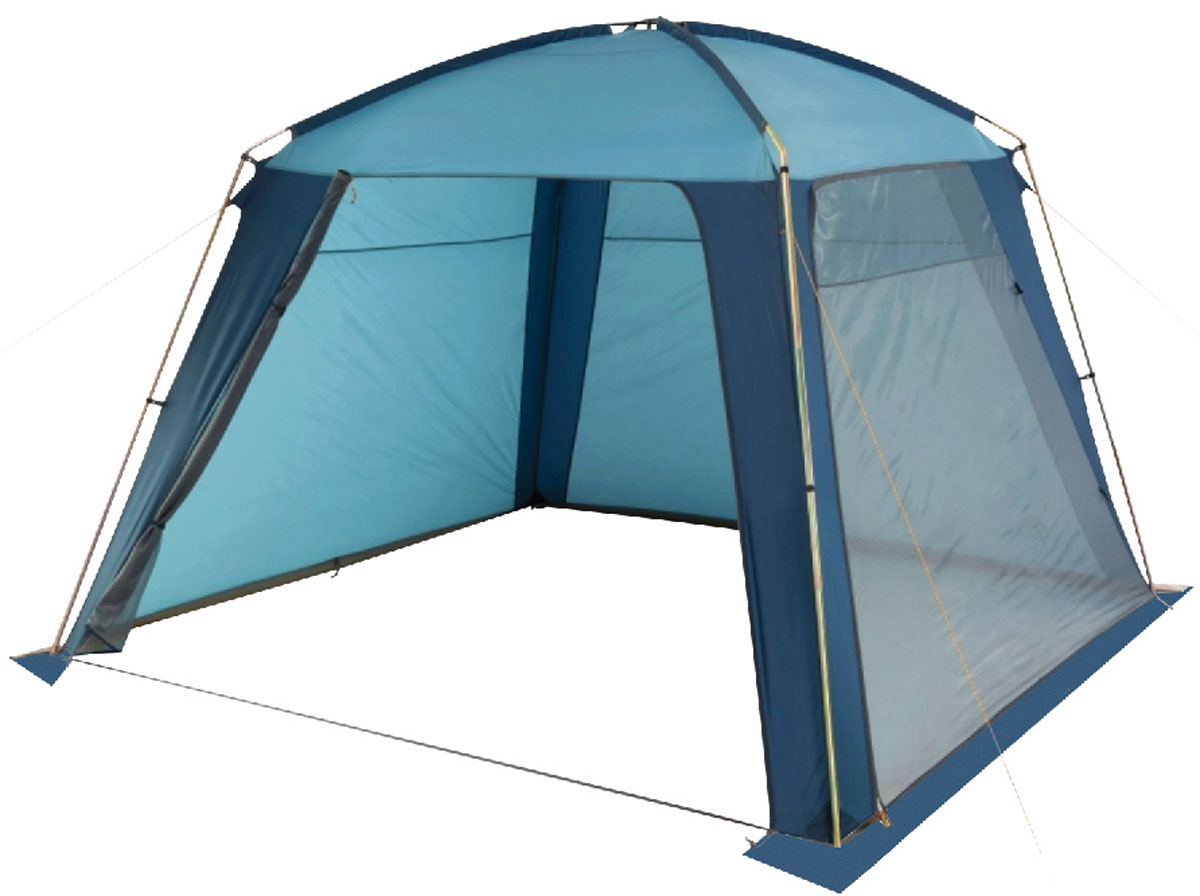 Шатер-тент TREK PLANET RAIN DOME, 320 см х 320 см х 210 см, цвет: синий, голубой шатер тент trek planet event dome четырехугольный 425 х 425 х 235 см цвет синий голубой