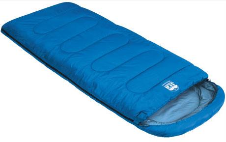 """Спальный мешок-одеяло KSL """"Camping Comfort Plus"""", цвет: синий, левосторонняя молния. 6254.01052"""