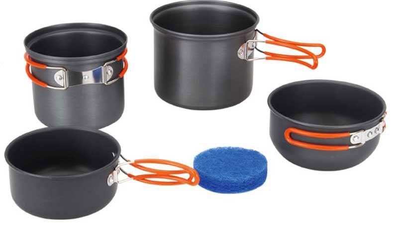 Набор походной посуды Fire-Maple, цвет: металлик, оранжевый, 5 предметов