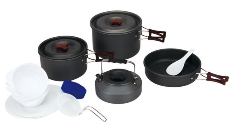 Набор походной посуды Fire-Maple, цвет: металлик, белый, 13 предметов. FMC-209 набор портативной посуды fire maple fmc 204