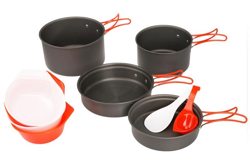 Набор походной посуды Fire-Maple, цвет: металлик, оранжевый, 10 предметов