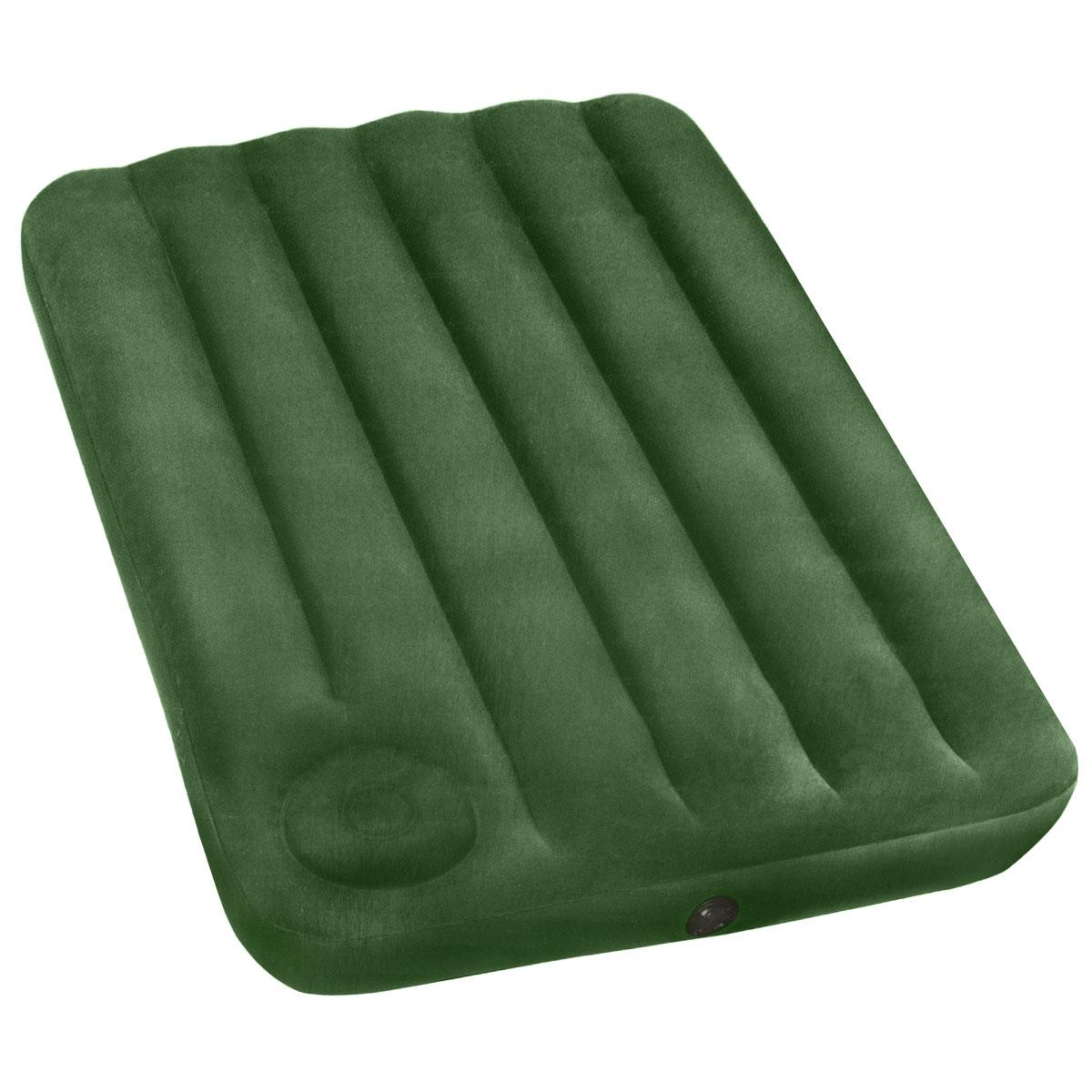Матрас надувной Intex, флокированный, цвет: зеленый, 191 х 99 х 22 см. 66927