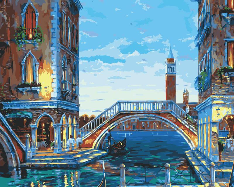 "Живопись на холсте ""Каналы Венеции"", 40 х 50 см"