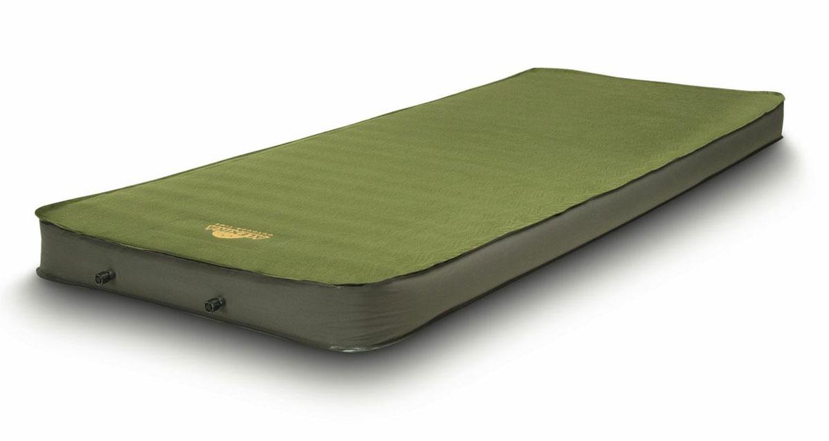 Коврик самонадувающийся Alexika Deluxe, цвет: оливковый. 9364.0007 коврик туристический самонадувающийся двуспальный larsen camp ht012
