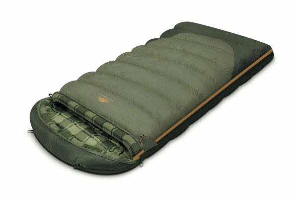 Спальный мешок-одеяло Alexika Tundra Plus XL, цвет: оливковый, правосторонняя молния. 9267.01071