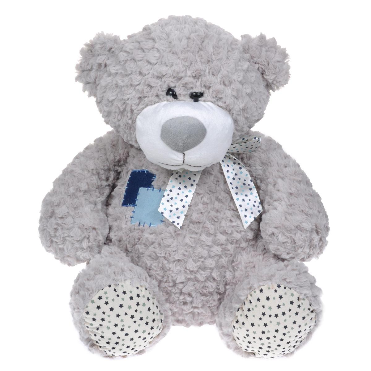 Мягкая игрушка Maxi Toys Мишка Жорик, цвет: серый, 50 см цена