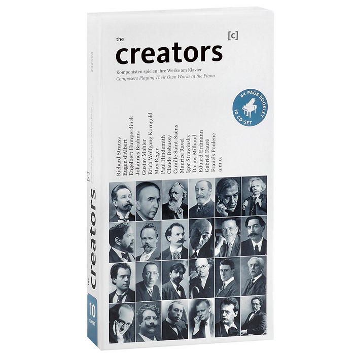 лучшая цена The Creators. Composers Playing Their Own Works At The Piano (10 CD)