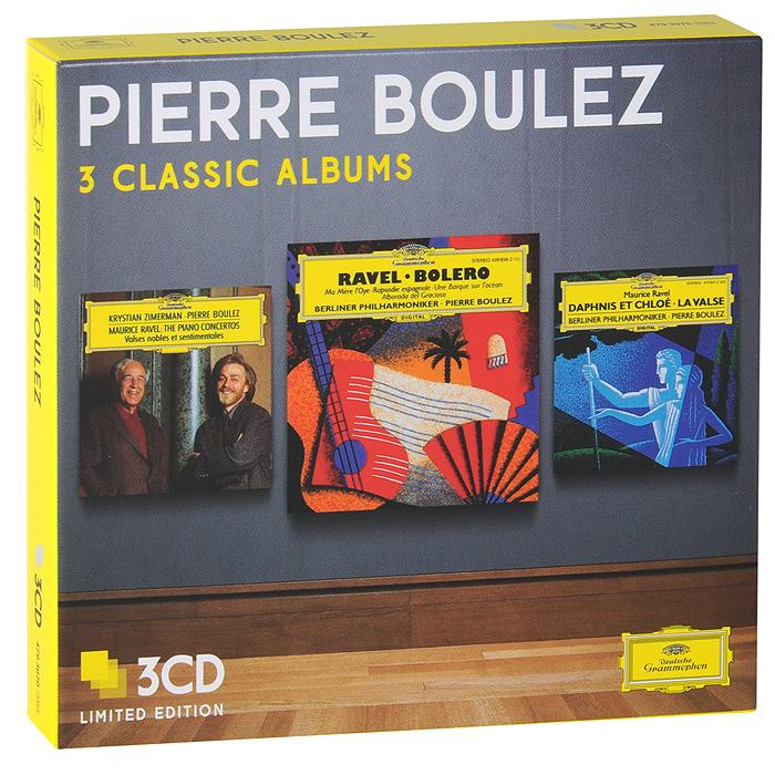 Пьер Булез,Berliner Philharmoniker,Кристиан Цимерман Pierre Boulez. 3 Classic Albums. Limiten Edition (3 CD) wiener philharmoniker pierre boulez mahler das klagende lied berg lulu suite