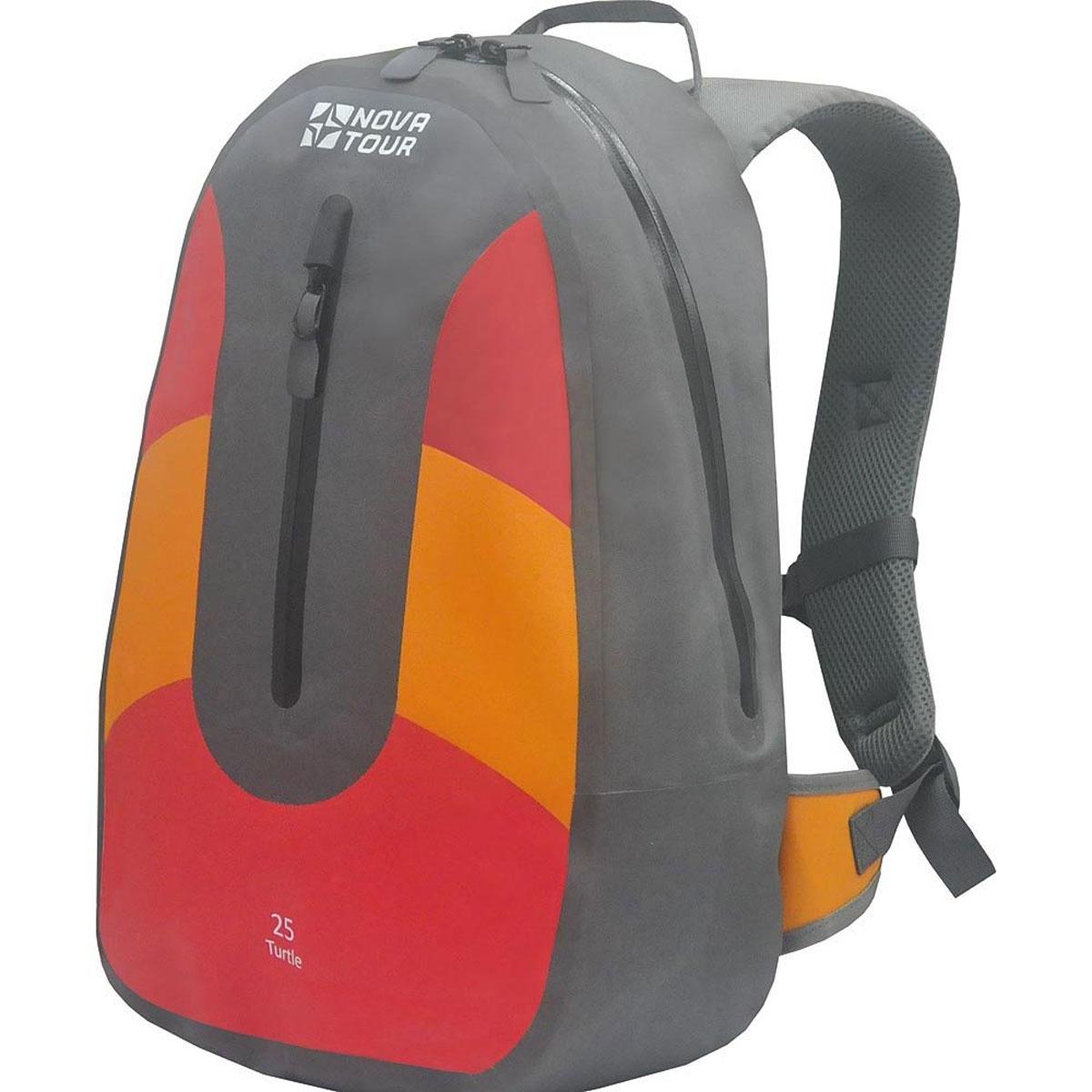 Рюкзак водонепроницаемый Nova Tour Черепаха 25, цвет: серый, красный, оранжевый. 95140-471-00
