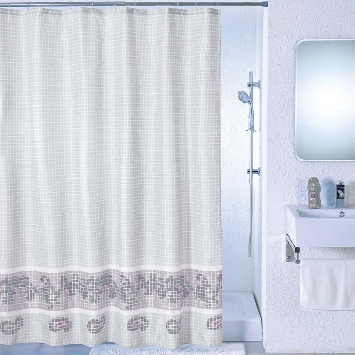 "Штора для ванной комнаты Milardo ""Grey Fresco"", 180 х 200 см SCMI012P"