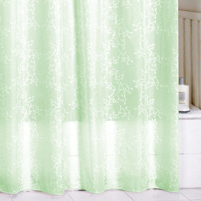 "Штора для ванной комнаты Milardo ""Green Leaf"", 180 см х 200 см. SCMI084P"
