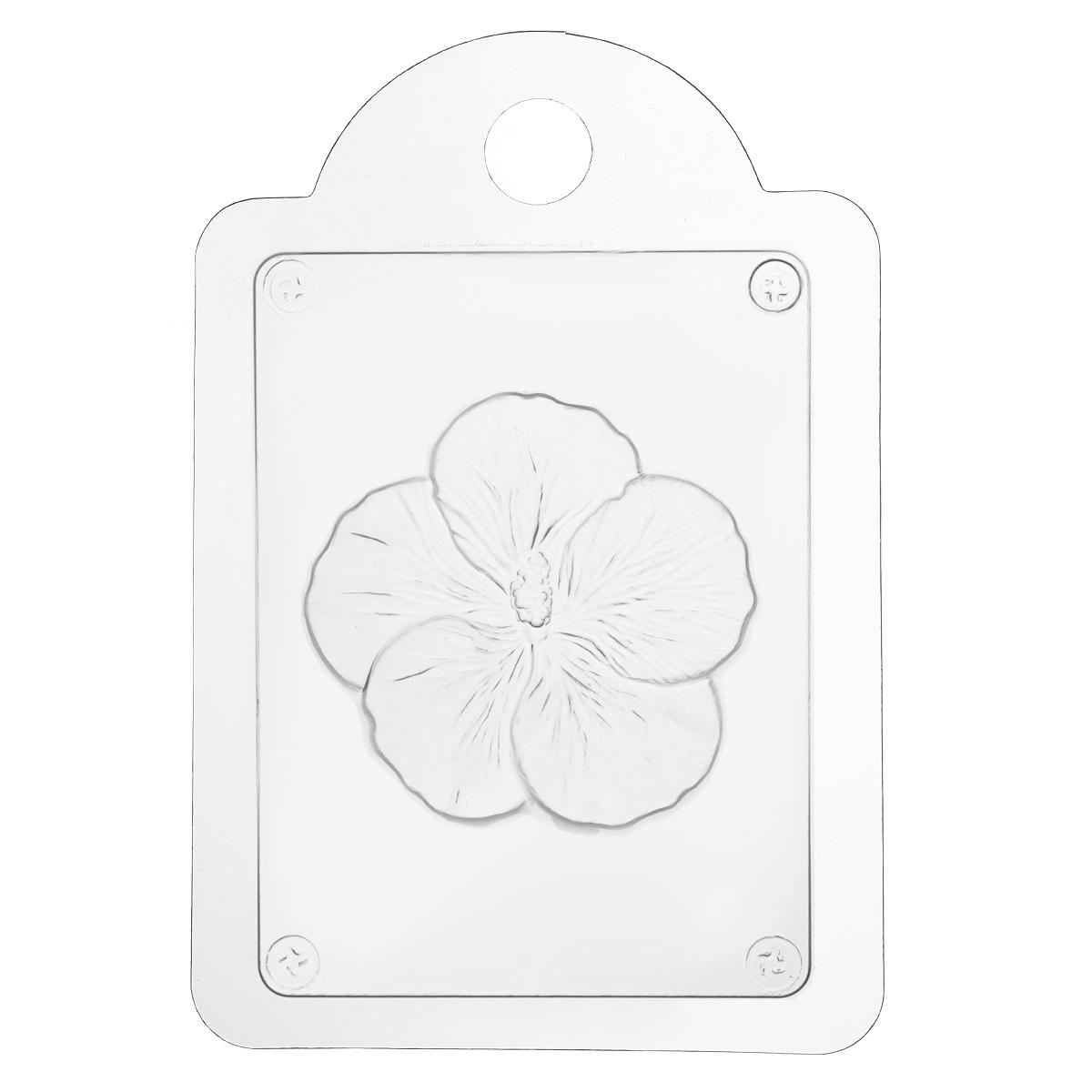 Форма для литья Гибискус, 16 х 11 х 2,5 см форма для мыла выдумщики букет тюльпанов пластиковая цвет прозрачный