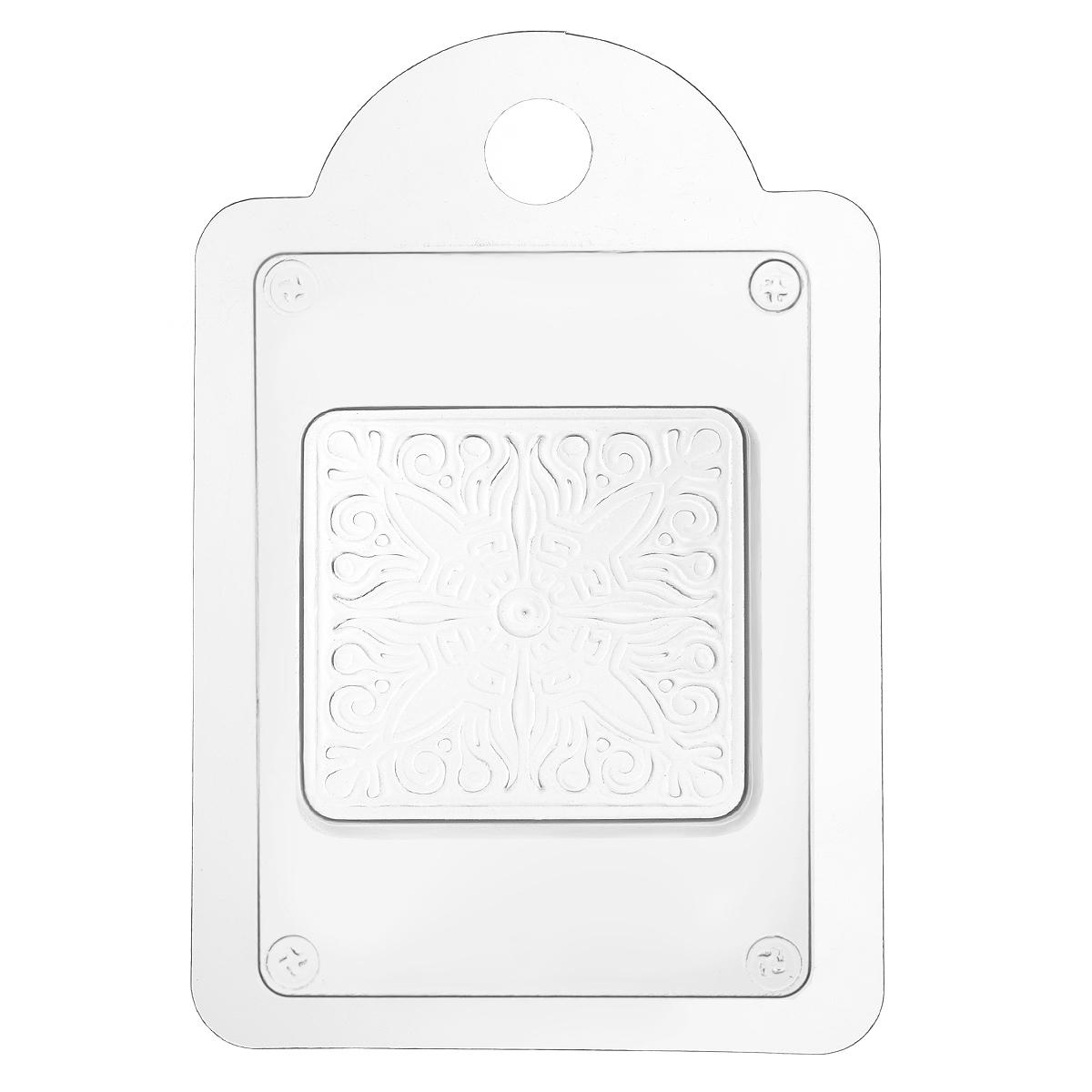 Форма для литья Квадратный узор: гладь, 16 х 11 х 2,5 см форма для мыла выдумщики букет тюльпанов пластиковая цвет прозрачный