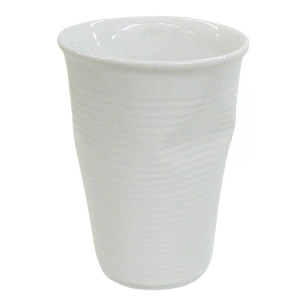 Стакан Ceraflame Мятый стаканчик, цвет: белый, 240 мл стакан ceraflame мятый 240мл керамика