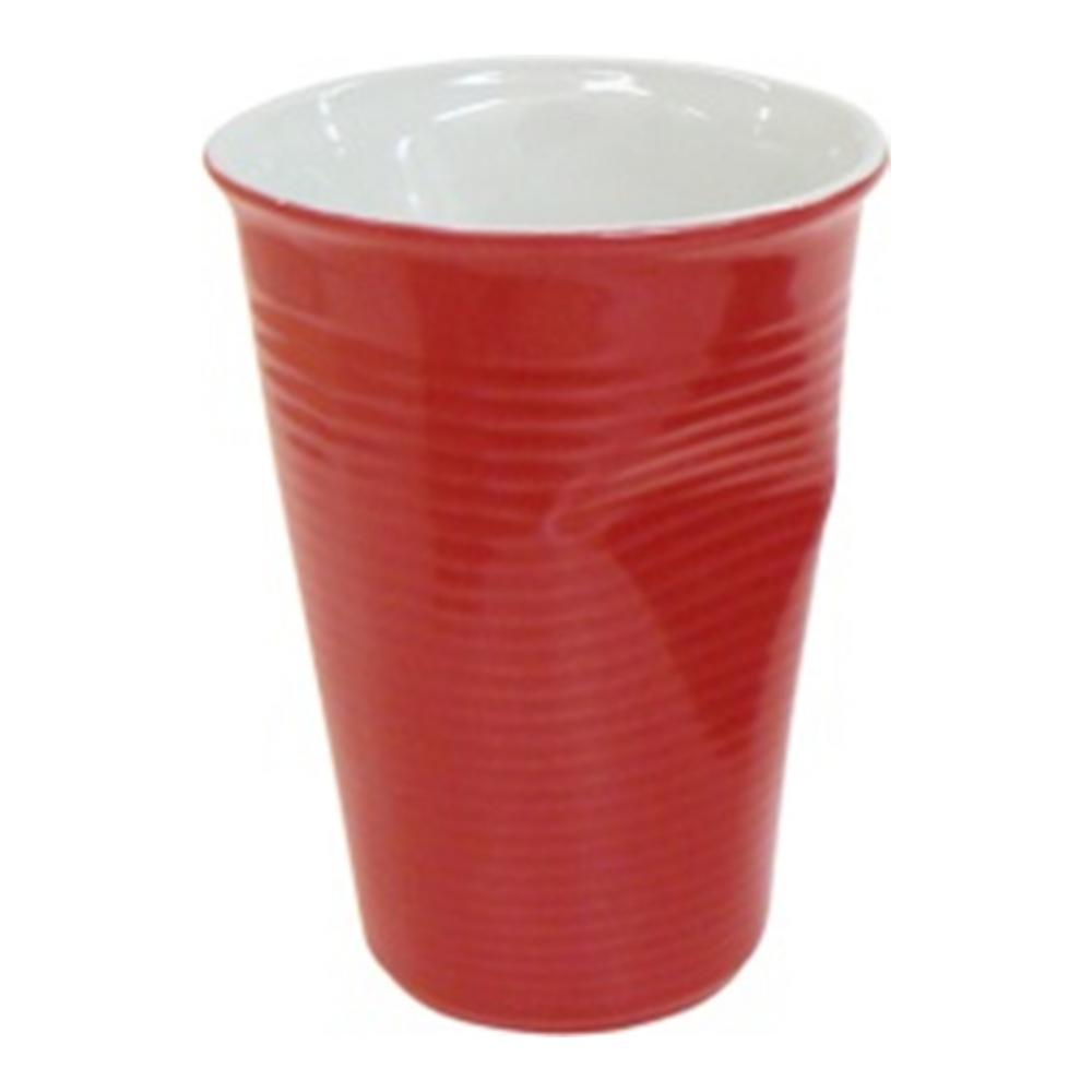 Стакан Ceraflame Мятый стаканчик, цвет: красный, 240 мл стакан ceraflame мятый 240мл керамика