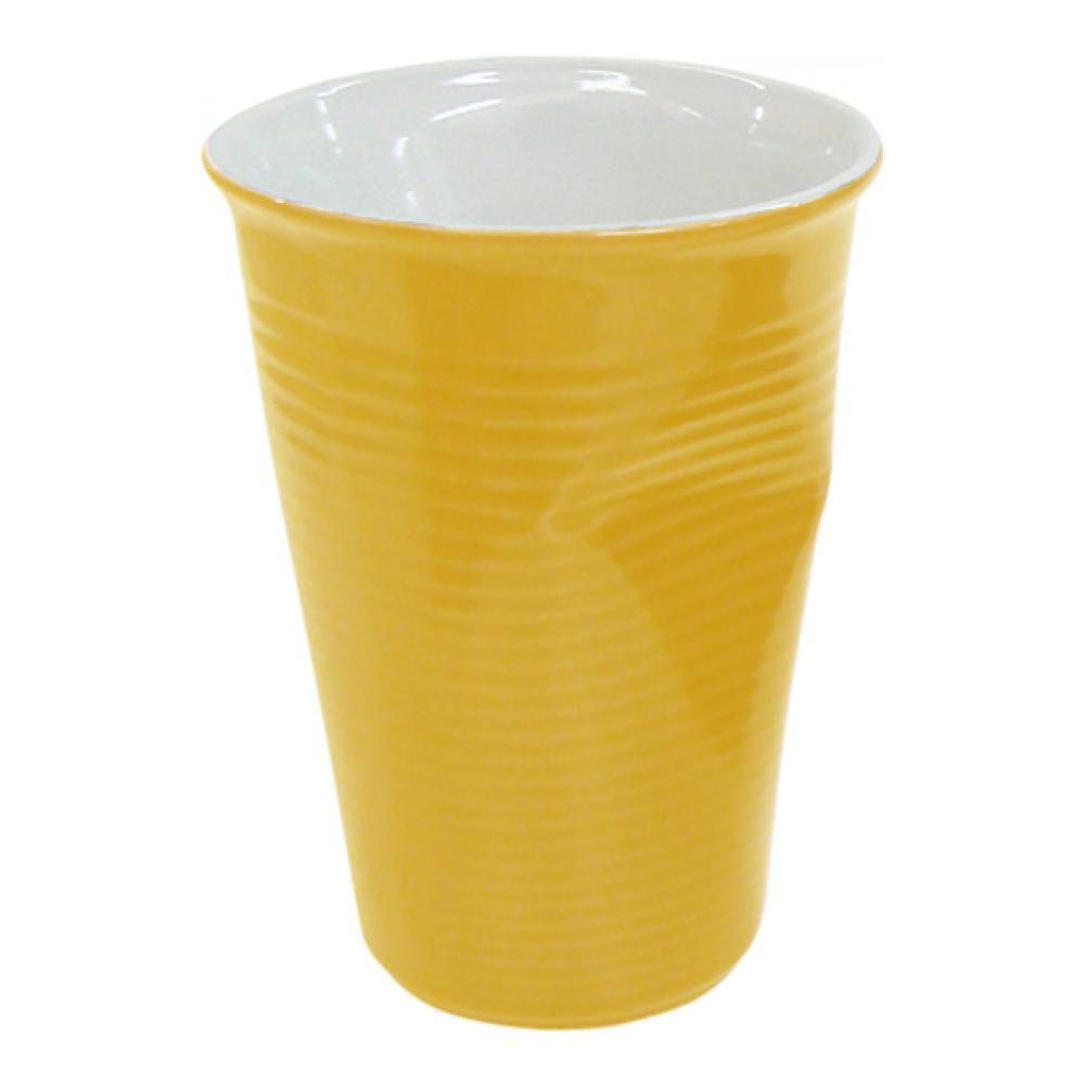 Стакан Ceraflame Мятый стаканчик, цвет: желтый, 240 мл стакан ceraflame мятый 240мл керамика