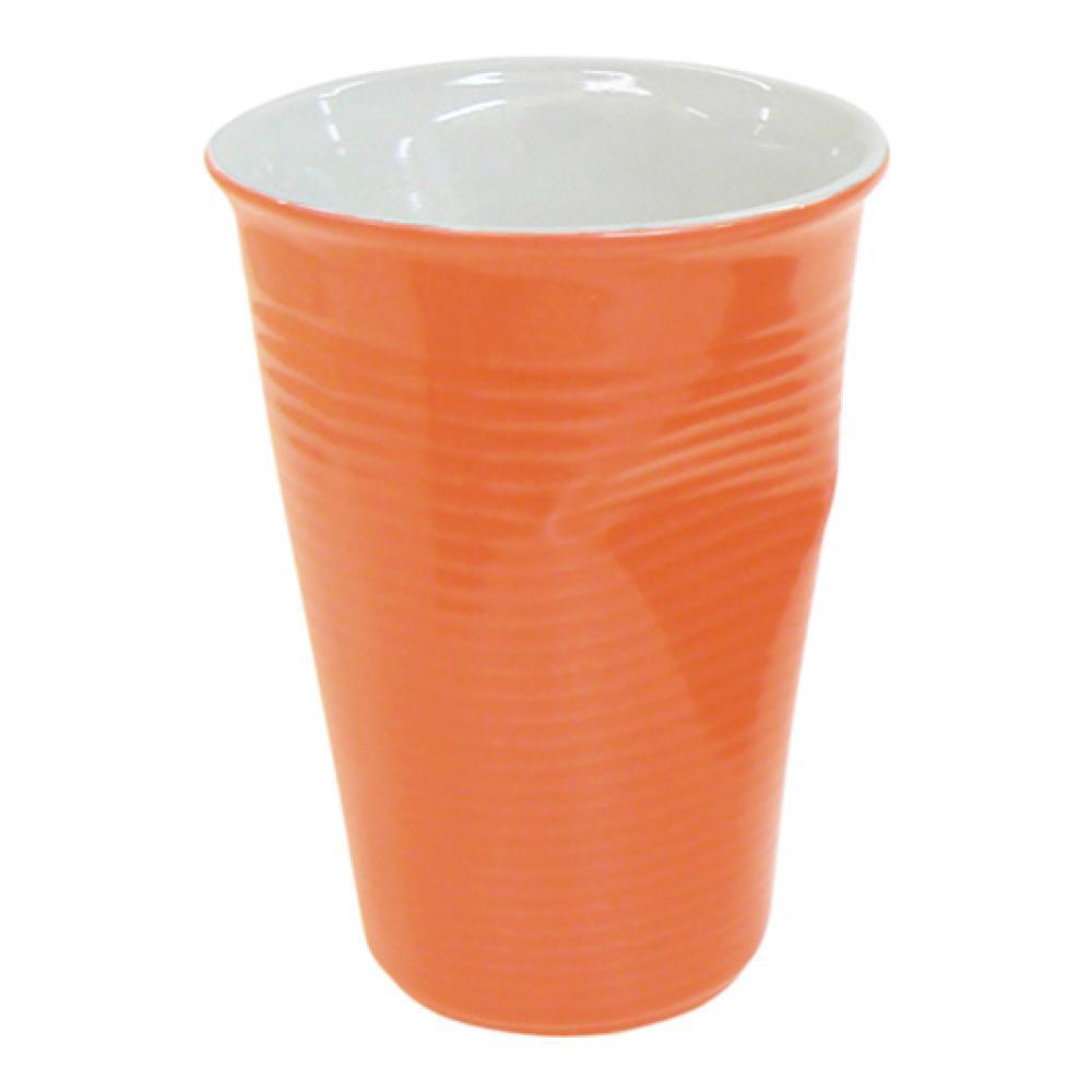 Стакан Ceraflame Мятый стаканчик, цвет: оранжевый, 240 мл стакан ceraflame мятый 240мл керамика