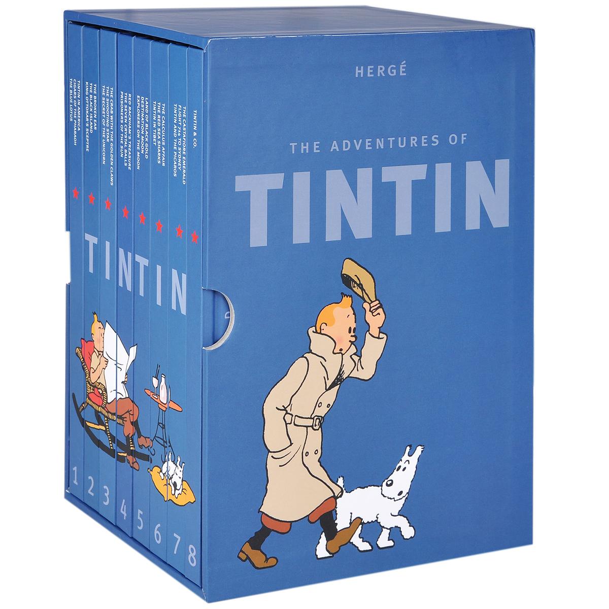 The Adventures of Tintin (комплект из 8 книг) недорго, оригинальная цена