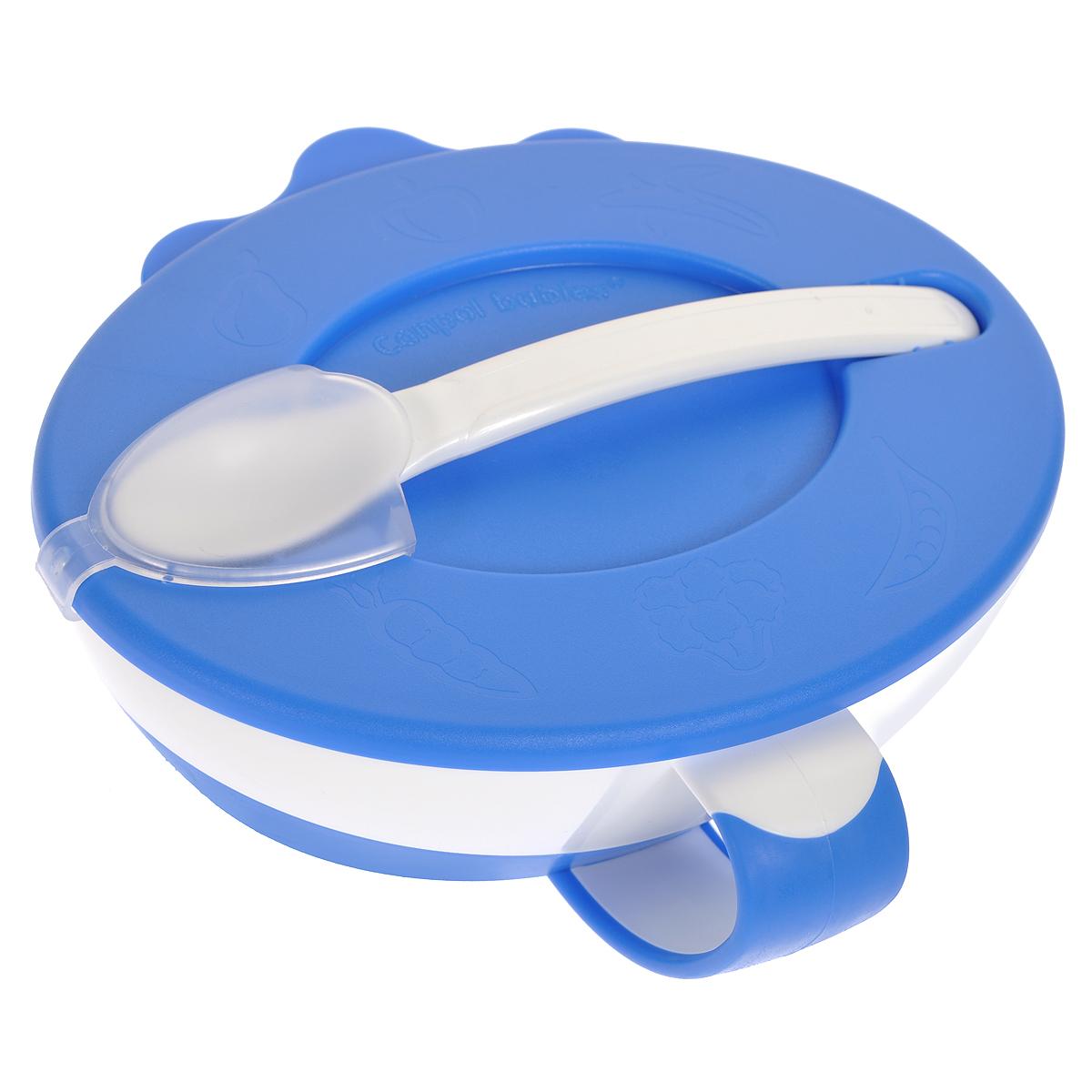 Canpol Babies Миска с ложечкой цвет голубой