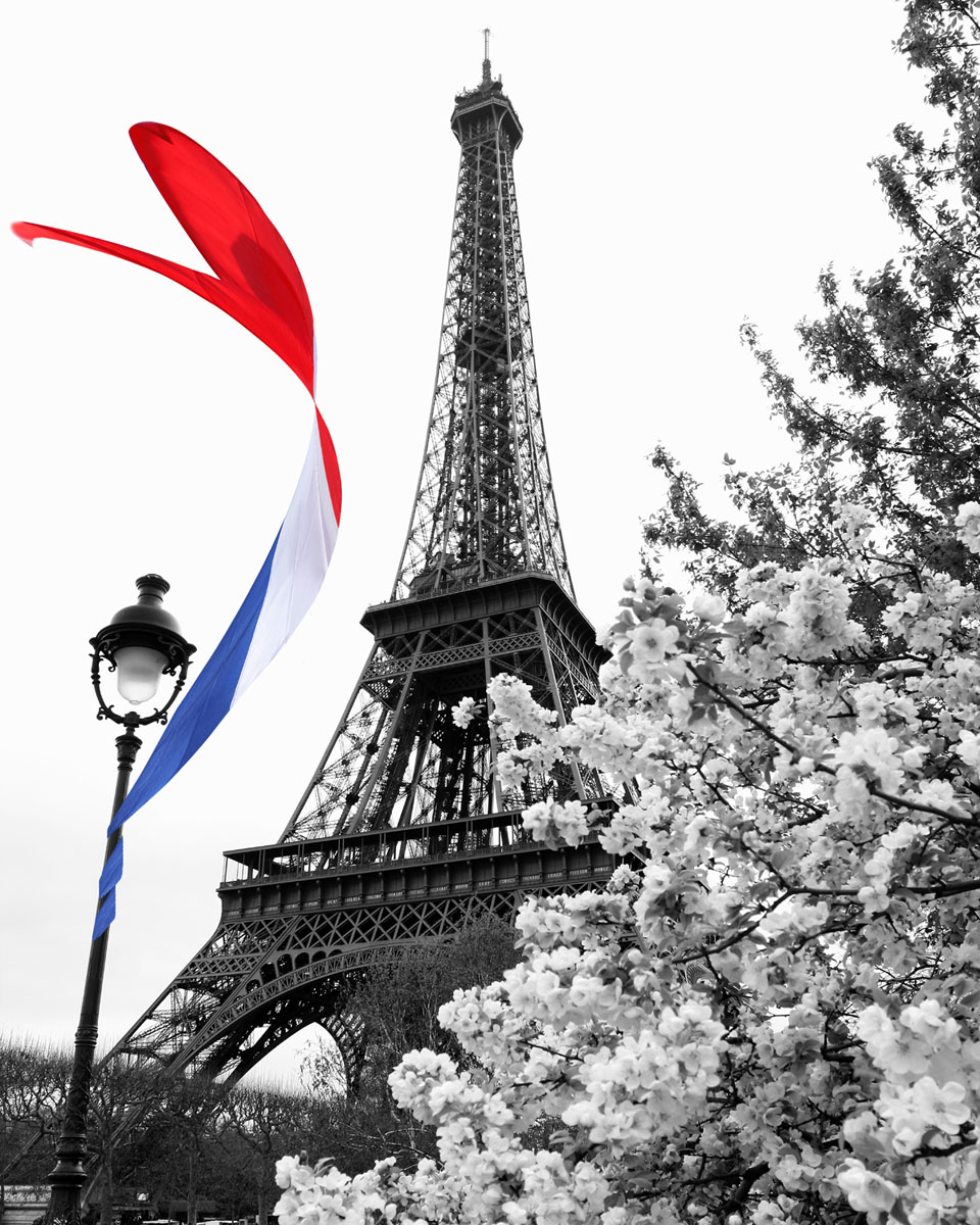 Постер париж эйфелева башня