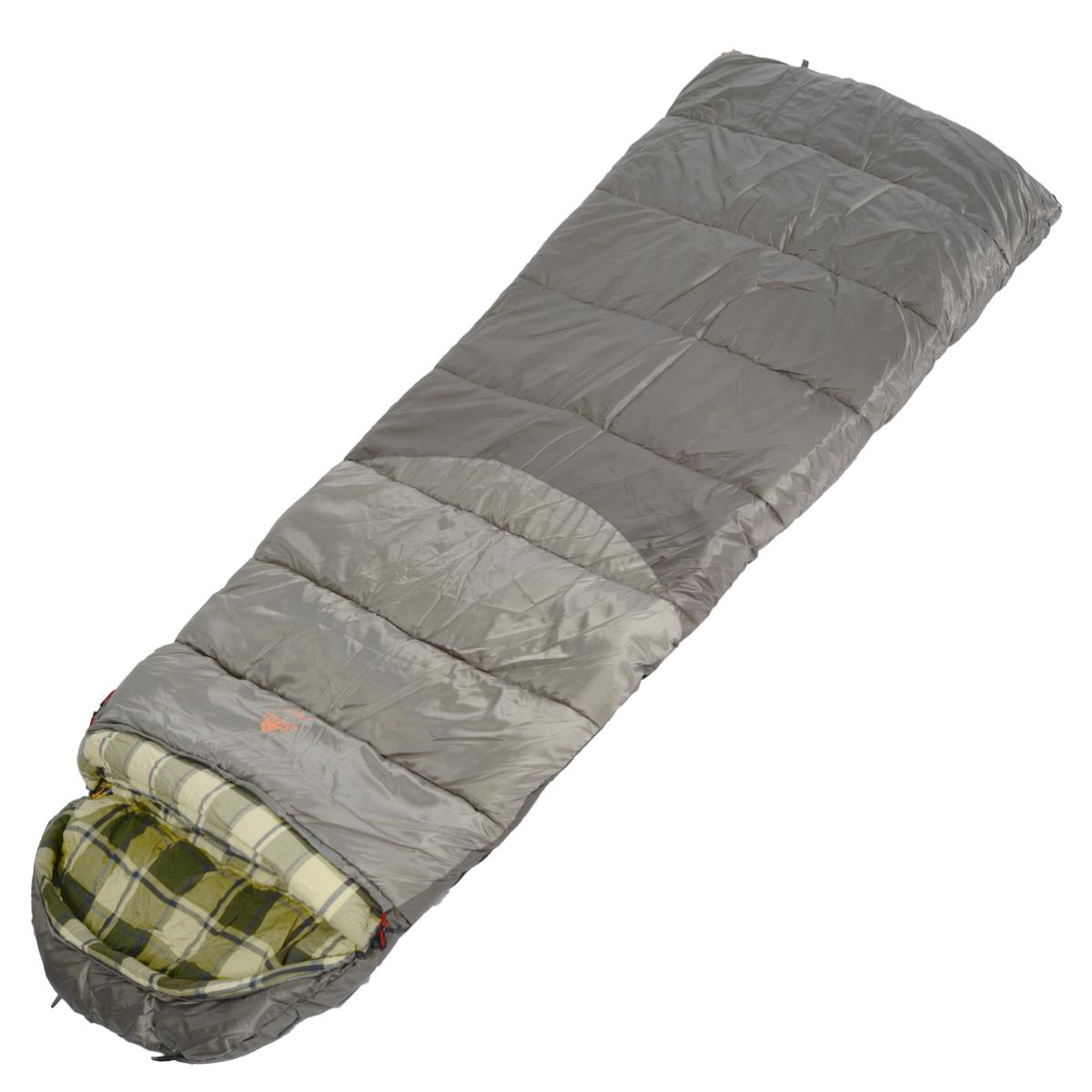 Спальный мешок-одеяло Alexika Canada plus, цвет: серый, правосторонняя молния. 9266.01071 цена