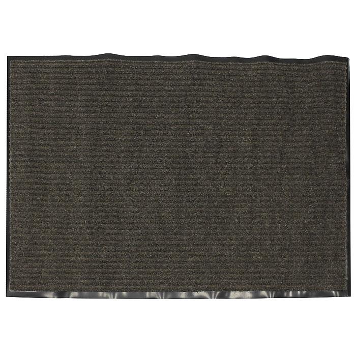 Коврик придверный Vortex, влаговпитывающий, 90 х 120 см, цвет: коричневый коврик придверный vortex влаговпитывающий цвет коричневый 50 см х 80 см