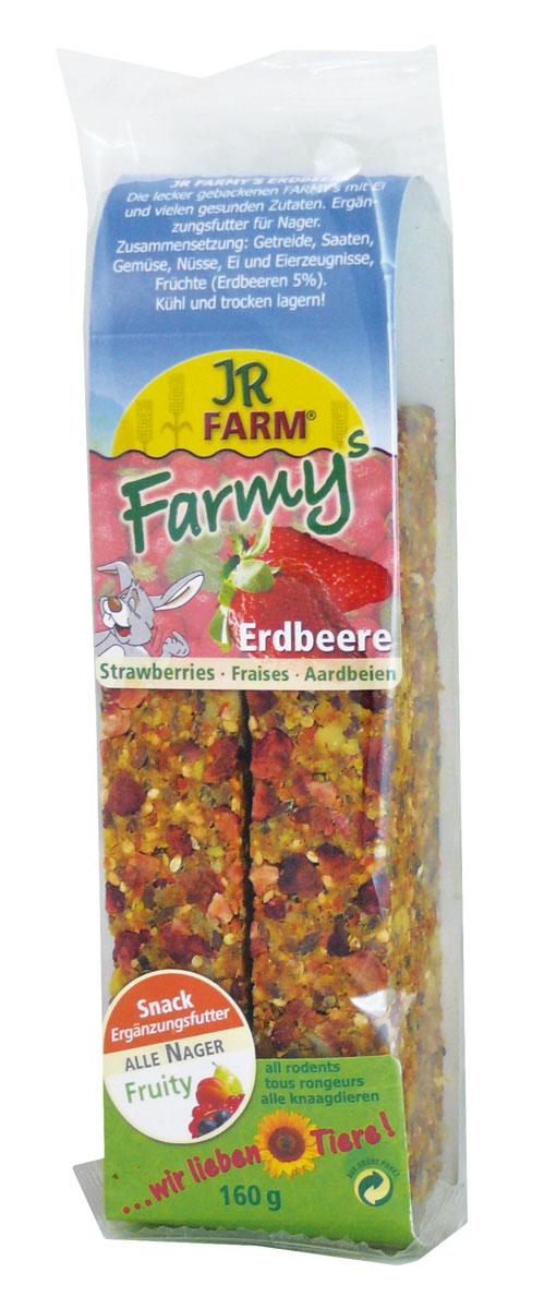 Лакомство для грызунов JR Farm Палочки, с клубникой, 120 г цена