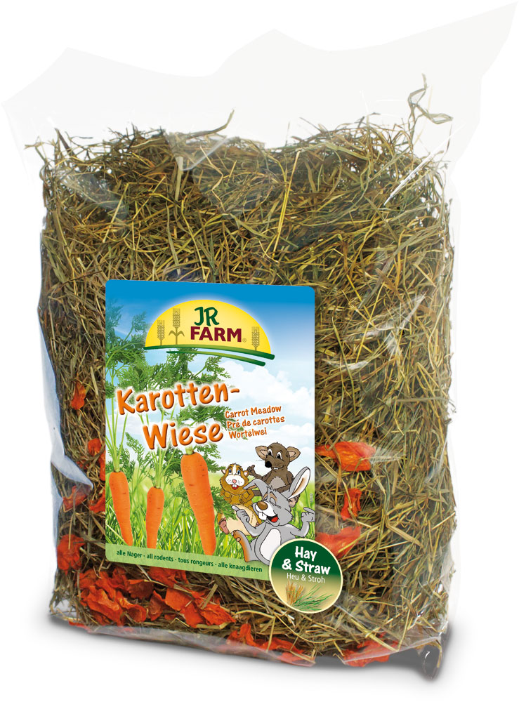 Сено для грызунов JR Farm, с морковью, 500 г корм для грызунов vitaline сено 14 7л