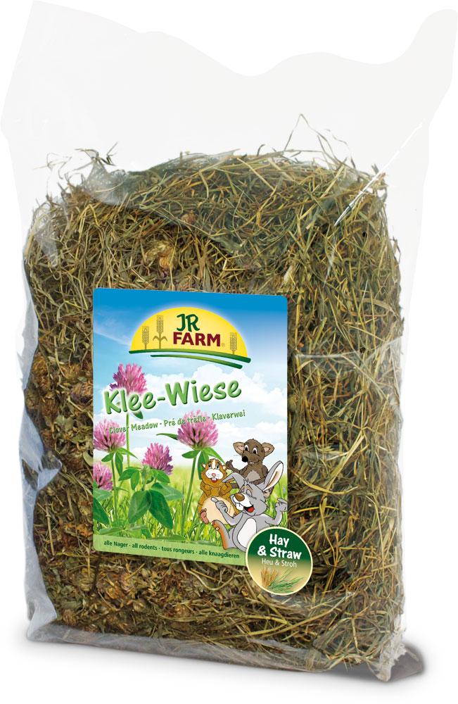 Сено для грызунов JR Farm, с клевером, 500 г корм для грызунов vitaline сено 14 7л