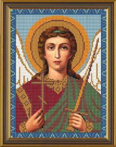 Набор для вышивания бисером Святой Ангел Хранитель, 18 х 25 см цена