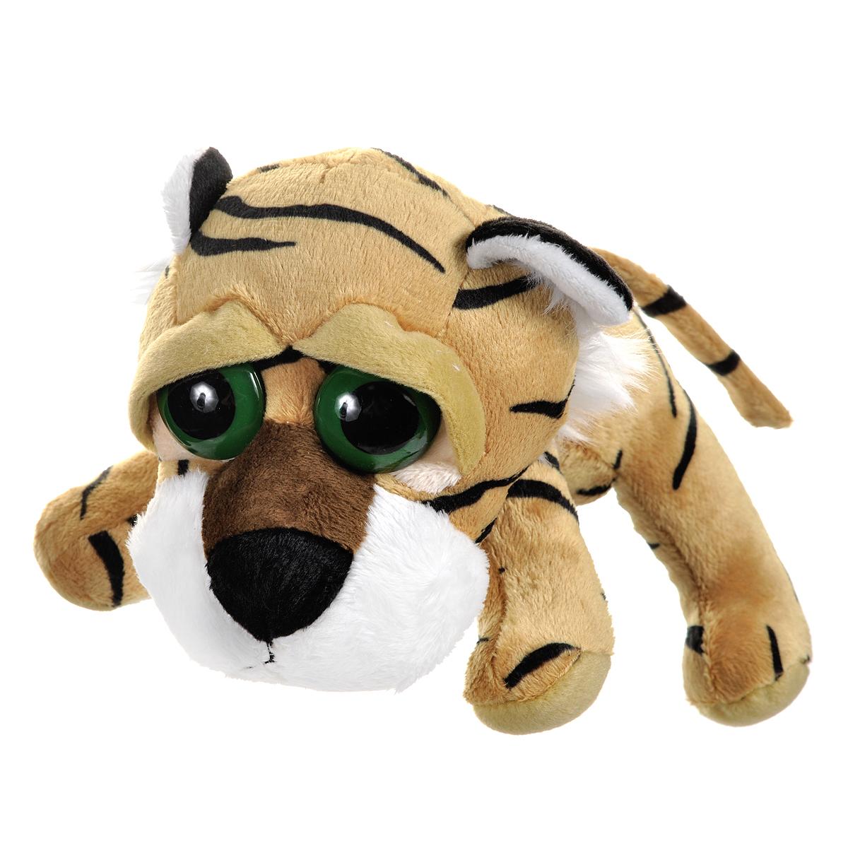 """Мягкая игрушка Russ """"Тигр Пиперс"""", цвет: коричнево-желтый, черный, 23 см"""