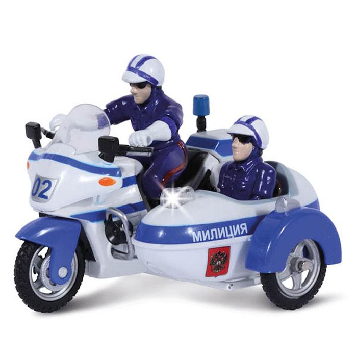 ТехноПарк Мотоцикл инерционный Полиция/Милиция игрушка технопарк мотоцикл sb 16 02 mo p m