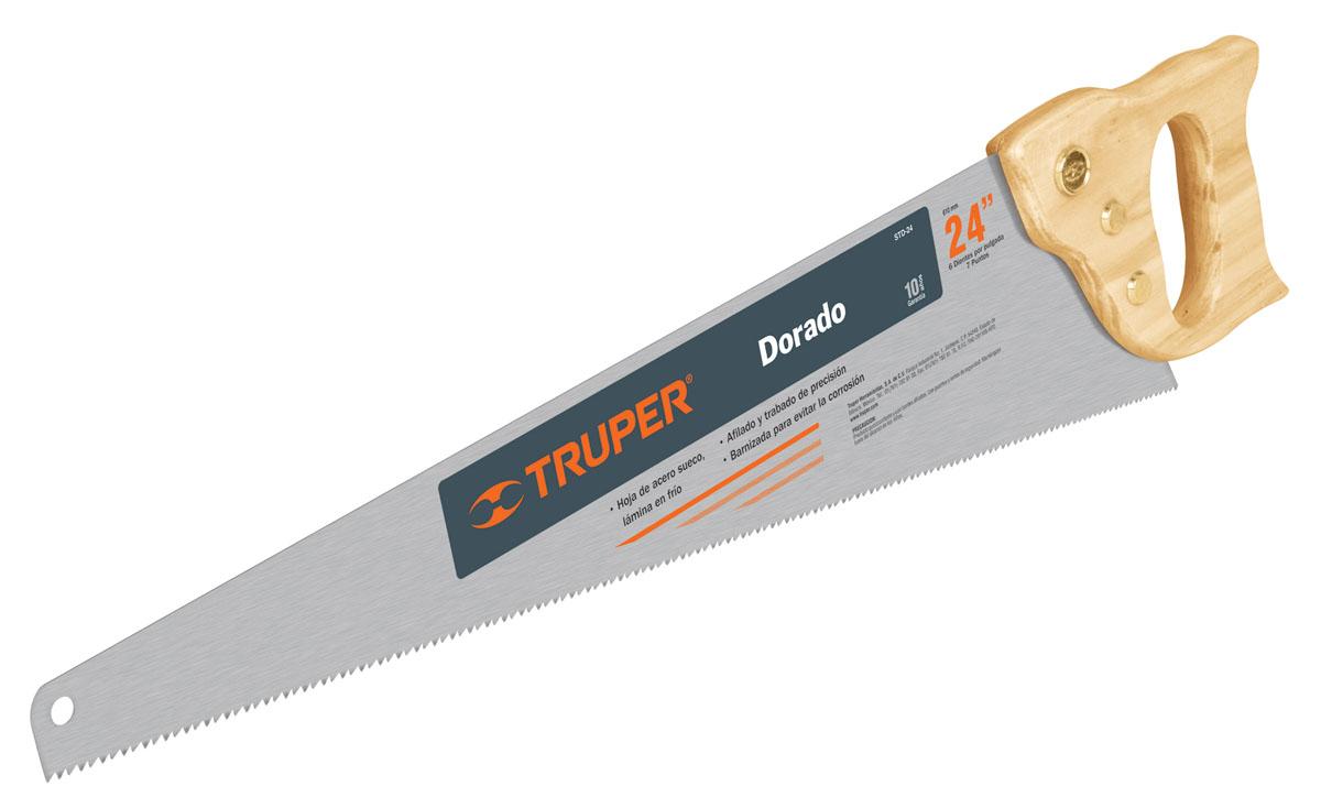Ножовка по дереву Truper Dorado, 61 см инструмент truper
