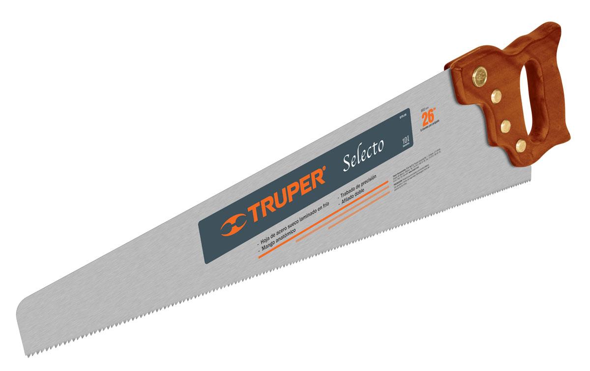 Ножовка по дереву Truper Selecto, 66 см инструмент truper