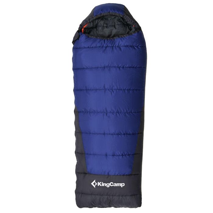 Спальный мешок KingCamp Explorer 250 KS3150, лправосторонняя молния, цвет: синий спальный мешок kingcamp treck 300 ks3131 правосторонняя молния цвет серый