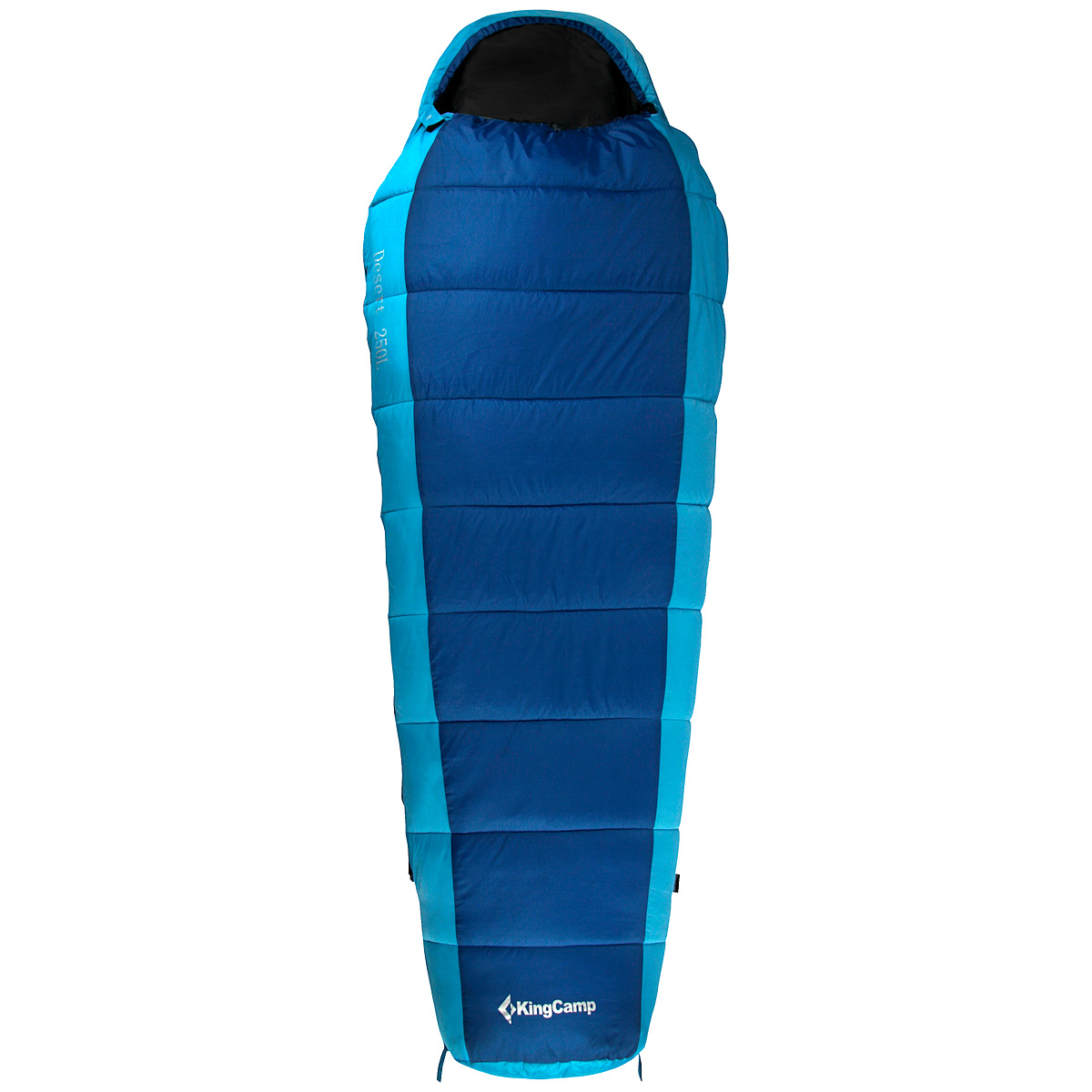 Спальный мешок-кокон KingCamp Desert 250L KS3185, правосторонняя молния, цвет: синий спальный мешок kingcamp treck 300 ks3131 правосторонняя молния цвет серый