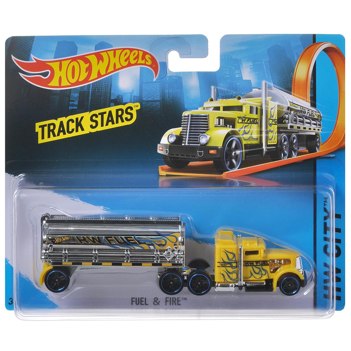 Hot Wheels Трейлер + машинка Track Stars. BFM60_BFM64 hot wheels track stars трейлер aero blast
