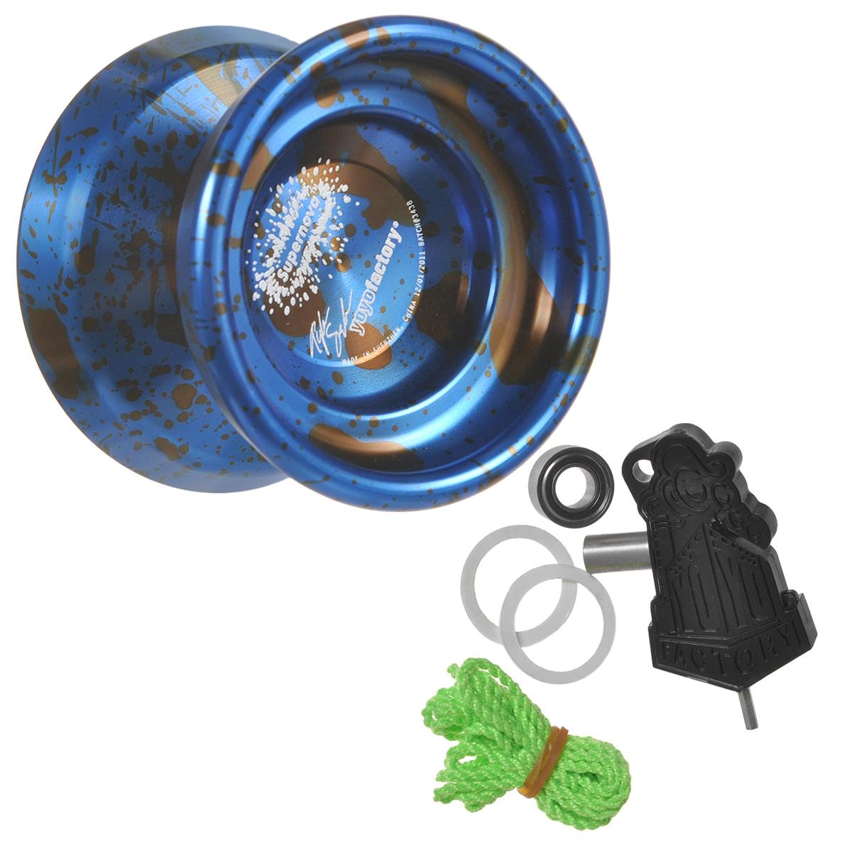 Йо-йо YoYoFactory Supernova, цвет: синий, черный йо йо auldey yoyo