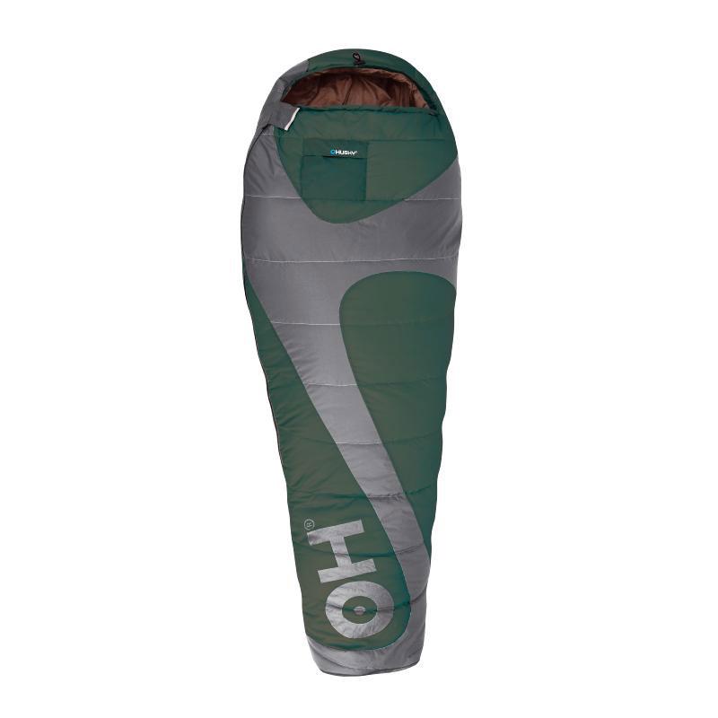 Спальный мешок Husky Magnum, правосторонняя молния, цвет: зеленый