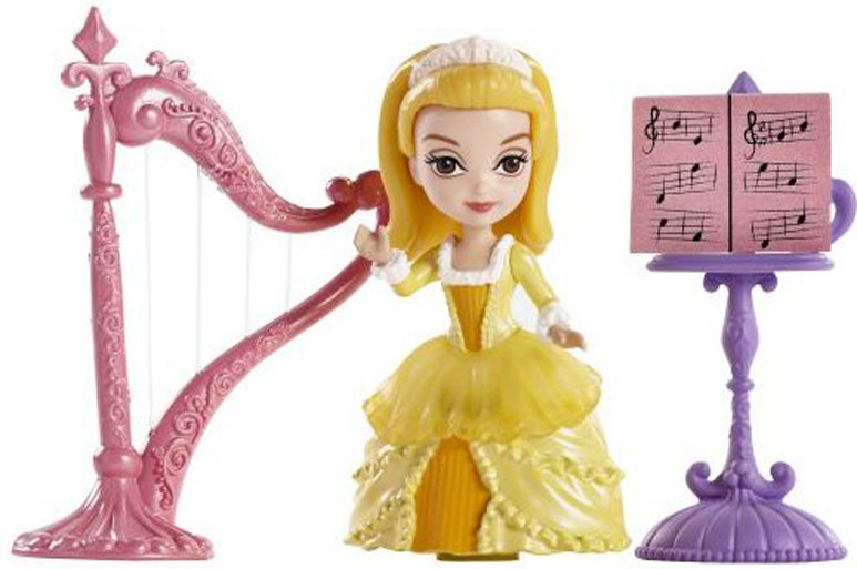 Sofia the First Игровой набор с мини-куклой Принцесса Эмбер и королевская арфа sofia the first adding ages 5 6