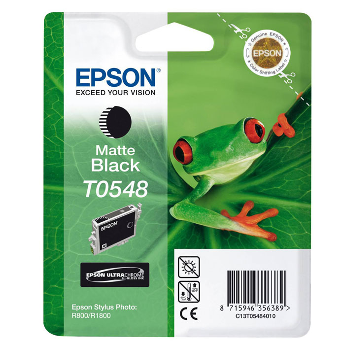Картридж Epson T0548 (C13T05484010), черный матовый картридж epson c13t05484010