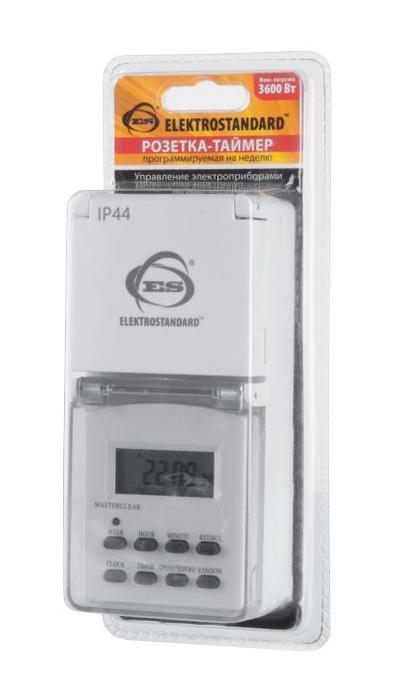 Розетка-таймер Elektrostandard TMH-E-6 16A x1 IP44 Белый 4690389032431 розетка таймер elektrostandard tmh e 6 16a x1 ip44 белый 4690389032431