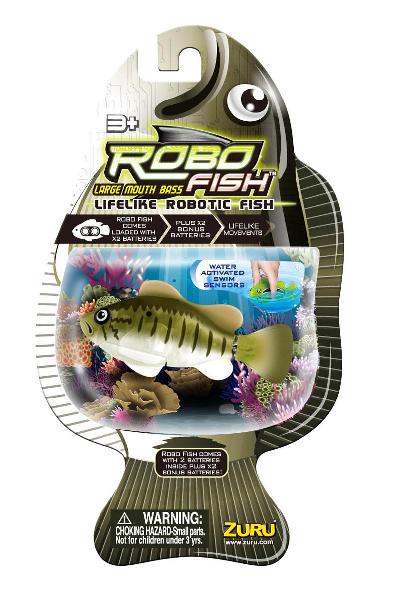 Игрушка для ванны Robofish Большеротый окунь, цвет: зеленый, серый окунь михаил плейбой